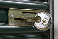 You provide your own door lock in Pine Bluff Self Storage